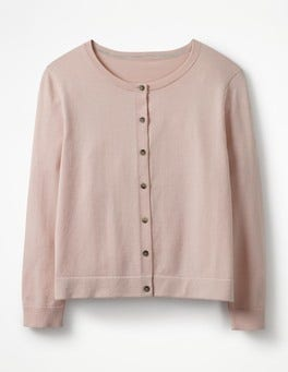 Pink Frosting Favourite Crop Crew Cardigan