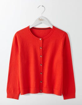 Post Box Red Favourite Crop Crew Cardigan
