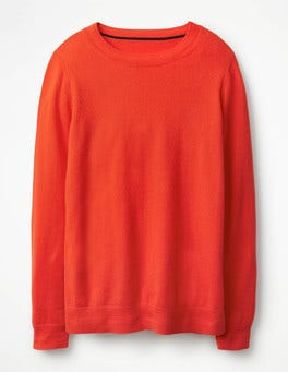 Red Pop Cashmere Crew Jumper