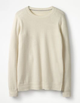 Ivory Cashmere Crew Sweater