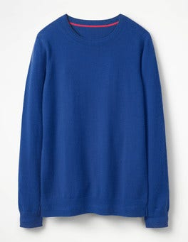 Klein Blue Cashmere Crew Sweater