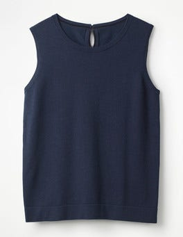 Navy Favourite Knitted Tank