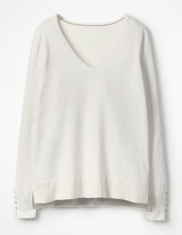 Ivory Tilly V-neck Jumper
