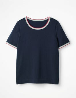 Navy Favourite Knitted Top
