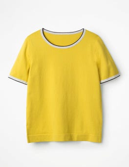 Mimosa Yellow Favourite Knitted Top