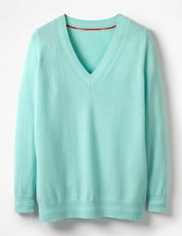 Ripple Cashmere Relaxed VNeck Sweater