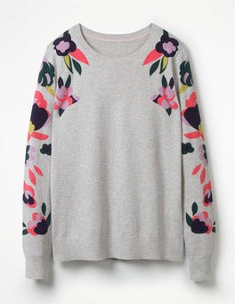 Floral Placement Printed Jumper