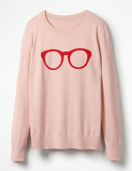 Pink Glasses Printed Jumper