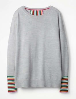 Grey Melange Cassandra Sweater