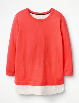 Paradise Pink Nora Woven Mix Sweater