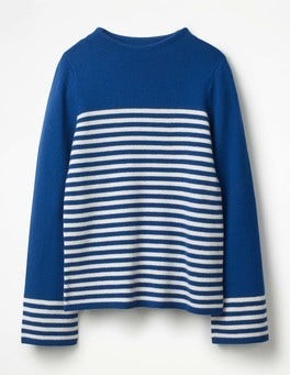 Riviera Blue/Ivory Linda Sweater