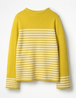 Mimosa Yellow/Ivory Linda Sweater