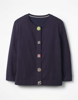 Navy Denise Embellished Cardigan