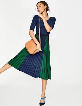 Blue/Green Brione Knitted Dress