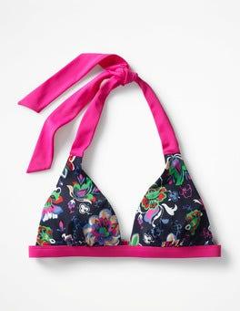Multi Floral Print Positano Halter Bikini Top