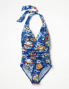 Blue Multi Floral Rhodes Swimsuit