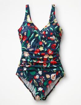 Folk Pop Wrap Front Swimsuit