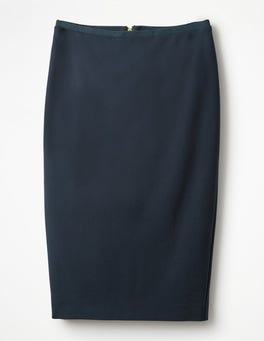 Navy Hampshire Ponte Skirt