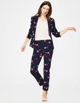 Navy, Wildflower Scattered Hampshire 7/8 Trousers