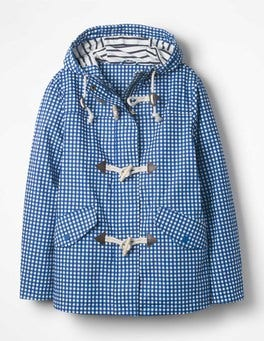 Persian Blue Gingham Whitby Waterproof Jacket