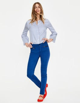 Riviera Blue Brighton Biker Skinny Jeans