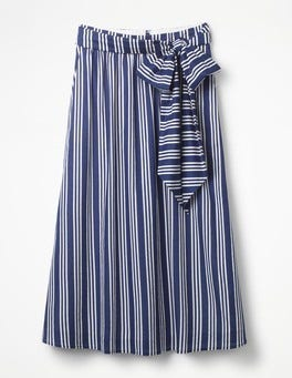 Mariner Blue and Ivory Stripe Kiera Skirt
