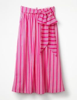 Party Pink and Ecru Stripe Kiera Skirt