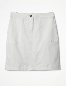 White Chino Skirt