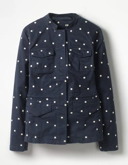 Navy Carly Embroidered Jacket