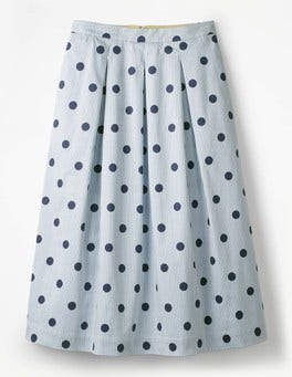 Hazy Sky, Spot on Stripe Lola Skirt