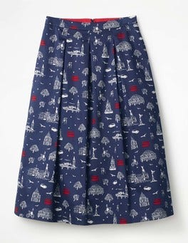 Navy, London Lola Skirt