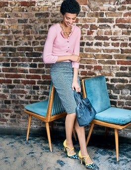 Textured Modern Pencil Skirt