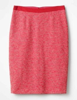 Hibiscus Textured Modern Pencil Skirt