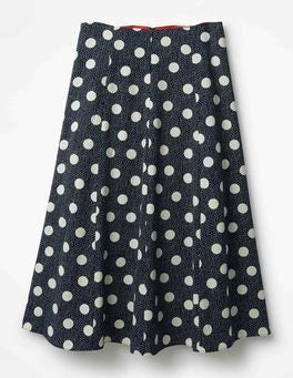 Navy Spot on Spot Darlena Skirt