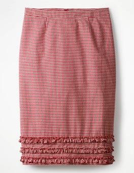 Red Gingham Ava Pencil Skirt
