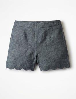 Miranda Scalloped Shorts