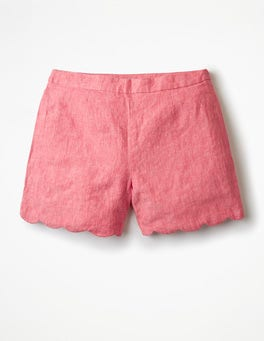 Coral Sunset Miranda Scalloped Shorts