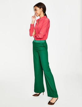 Sap Green Marlin Wide Leg Trousers