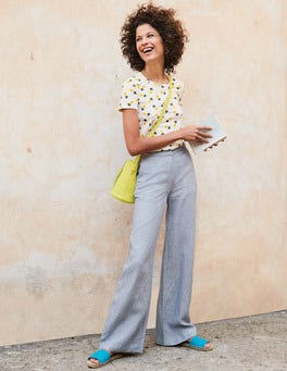 Myra Wide Leg Linen Pants