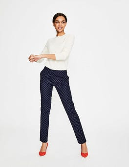 Navy, Spot Small Richmond Trousers