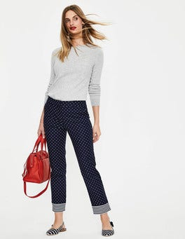 Navy, Spot Small Richmond 7/8 Trousers