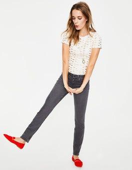 Grau Trafalgar Jeans mit geradem Bein