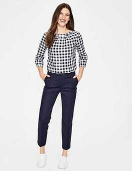 Navy Richmond Capri Trousers