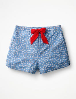 Soft Blue, Daisy Large Suzie PJ Shorts