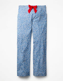 Soft Blue, Daisy Large Suzie PJ Trousers