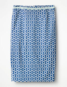 Klein Blue, Pompom Spot Modern Pencil Skirt