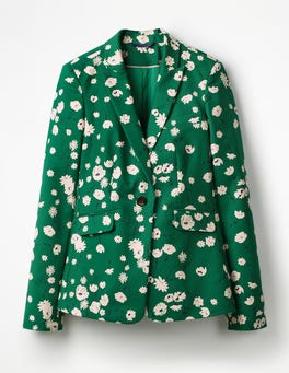 Sap Green, Floral Meadow Mallory Blazer