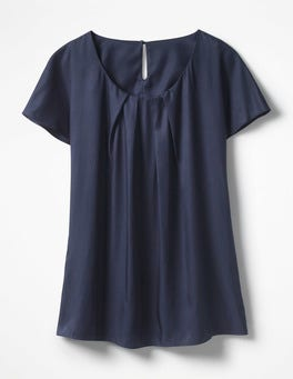 Navy Ravello Top