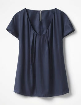 Navy V Neck Ravello