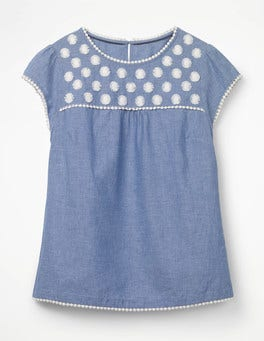 Chambray - Blue Rosalind Top